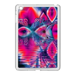 Cosmic Heart of Fire, Abstract Crystal Palace Apple iPad Mini Case (White)