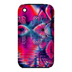 Cosmic Heart Of Fire, Abstract Crystal Palace Apple Iphone 3g/3gs Hardshell Case (pc+silicone)
