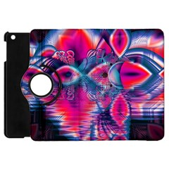 Cosmic Heart Of Fire, Abstract Crystal Palace Apple Ipad Mini Flip 360 Case