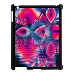 Cosmic Heart of Fire, Abstract Crystal Palace Apple iPad 3/4 Case (Black)
