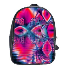 Cosmic Heart of Fire, Abstract Crystal Palace School Bag (XL)