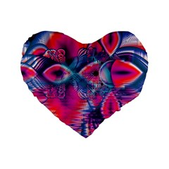 Cosmic Heart Of Fire, Abstract Crystal Palace 16  Premium Heart Shape Cushion