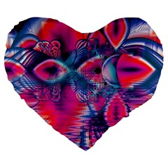 Cosmic Heart of Fire, Abstract Crystal Palace 19  Premium Heart Shape Cushion