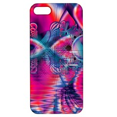 Cosmic Heart Of Fire, Abstract Crystal Palace Apple Iphone 5 Hardshell Case With Stand