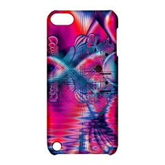 Cosmic Heart Of Fire, Abstract Crystal Palace Apple Ipod Touch 5 Hardshell Case With Stand