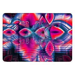 Cosmic Heart of Fire, Abstract Crystal Palace Samsung Galaxy Tab 8.9  P7300 Flip Case