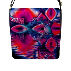 Cosmic Heart of Fire, Abstract Crystal Palace Flap Closure Messenger Bag (Large)