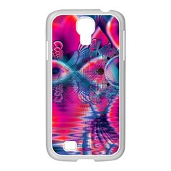 Cosmic Heart of Fire, Abstract Crystal Palace Samsung GALAXY S4 I9500/ I9505 Case (White)