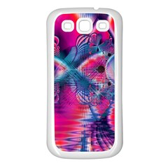 Cosmic Heart Of Fire, Abstract Crystal Palace Samsung Galaxy S3 Back Case (white)