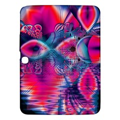 Cosmic Heart of Fire, Abstract Crystal Palace Samsung Galaxy Tab 3 (10.1 ) P5200 Hardshell Case