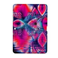 Cosmic Heart of Fire, Abstract Crystal Palace Samsung Galaxy Tab 2 (10.1 ) P5100 Hardshell Case