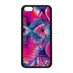 Cosmic Heart of Fire, Abstract Crystal Palace Apple iPhone 5C Seamless Case (Black)
