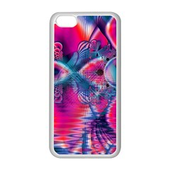 Cosmic Heart of Fire, Abstract Crystal Palace Apple iPhone 5C Seamless Case (White)