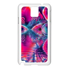 Cosmic Heart of Fire, Abstract Crystal Palace Samsung Galaxy Note 3 N9005 Case (White)