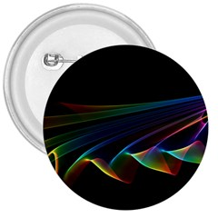 Flowing Fabric of Rainbow Light, Abstract  3  Button