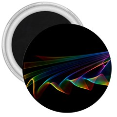 Flowing Fabric Of Rainbow Light, Abstract  3  Button Magnet