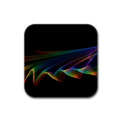 Flowing Fabric of Rainbow Light, Abstract  Drink Coaster (Square)