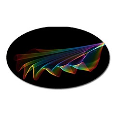 Flowing Fabric of Rainbow Light, Abstract  Magnet (Oval)