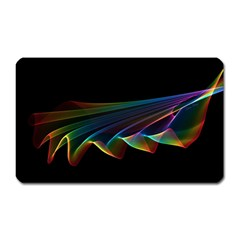 Flowing Fabric of Rainbow Light, Abstract  Magnet (Rectangular)