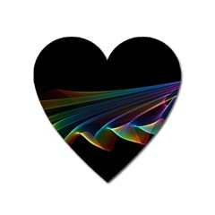Flowing Fabric of Rainbow Light, Abstract  Magnet (Heart)