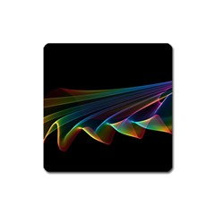 Flowing Fabric of Rainbow Light, Abstract  Magnet (Square)