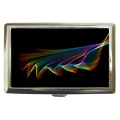 Flowing Fabric of Rainbow Light, Abstract  Cigarette Money Case