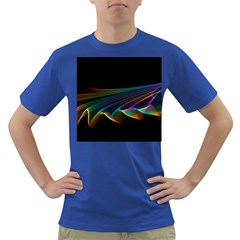 Flowing Fabric Of Rainbow Light, Abstract  Men s T Shirt (colored)