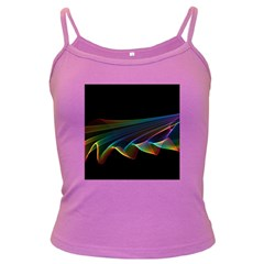 Flowing Fabric of Rainbow Light, Abstract  Spaghetti Top (Colored)
