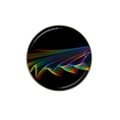 Flowing Fabric of Rainbow Light, Abstract  Golf Ball Marker (for Hat Clip)