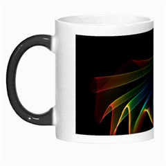 Flowing Fabric of Rainbow Light, Abstract  Morph Mug