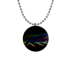 Flowing Fabric of Rainbow Light, Abstract  Button Necklace
