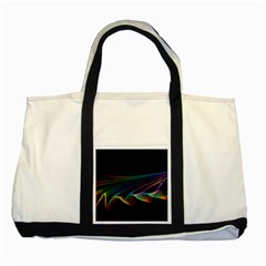 Flowing Fabric of Rainbow Light, Abstract  Two Toned Tote Bag