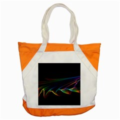 Flowing Fabric of Rainbow Light, Abstract  Accent Tote Bag