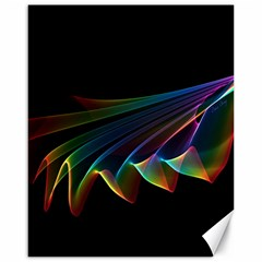 Flowing Fabric of Rainbow Light, Abstract  Canvas 16  x 20  (Unframed)
