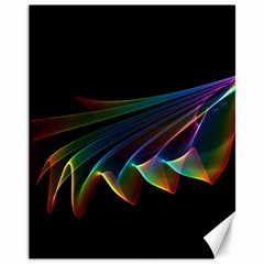 Flowing Fabric Of Rainbow Light, Abstract  Canvas 11  X 14  (unframed)