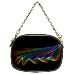 Flowing Fabric of Rainbow Light, Abstract  Chain Purse (One Side)