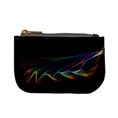 Flowing Fabric Of Rainbow Light, Abstract  Coin Change Purse