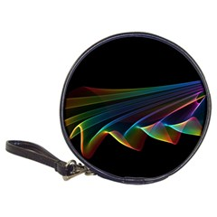 Flowing Fabric Of Rainbow Light, Abstract  Cd Wallet