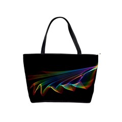 Flowing Fabric Of Rainbow Light, Abstract  Large Shoulder Bag