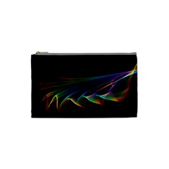 Flowing Fabric Of Rainbow Light, Abstract  Cosmetic Bag (small)