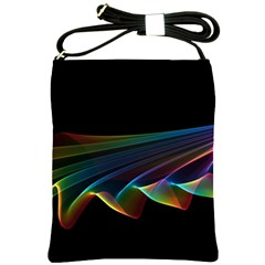 Flowing Fabric of Rainbow Light, Abstract  Shoulder Sling Bag