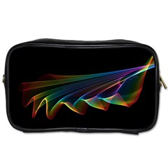 Flowing Fabric Of Rainbow Light, Abstract  Travel Toiletry Bag (two Sides)