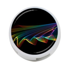 Flowing Fabric of Rainbow Light, Abstract  4-Port USB Hub (One Side)