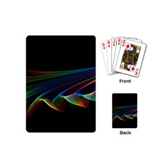 Flowing Fabric of Rainbow Light, Abstract  Playing Cards (Mini)
