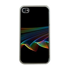 Flowing Fabric Of Rainbow Light, Abstract  Apple Iphone 4 Case (clear)