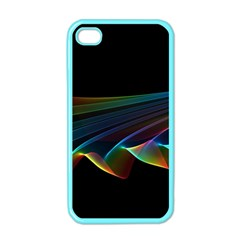Flowing Fabric of Rainbow Light, Abstract  Apple iPhone 4 Case (Color)