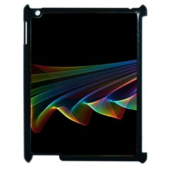 Flowing Fabric of Rainbow Light, Abstract  Apple iPad 2 Case (Black)