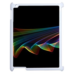 Flowing Fabric of Rainbow Light, Abstract  Apple iPad 2 Case (White)
