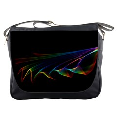 Flowing Fabric of Rainbow Light, Abstract  Messenger Bag