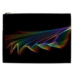 Flowing Fabric of Rainbow Light, Abstract  Cosmetic Bag (XXL)